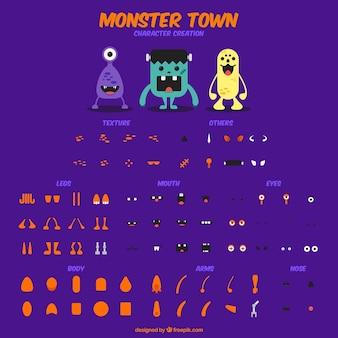 Zestaw znaków potwór