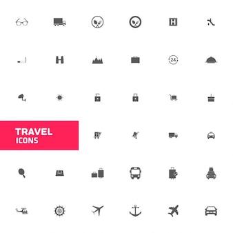 Zestawy ikon podróży