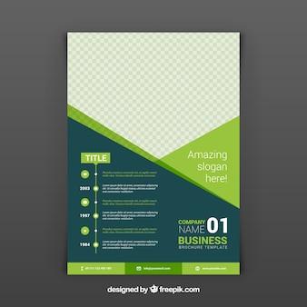 Zielona abstrakcyjna biznesowych broszura