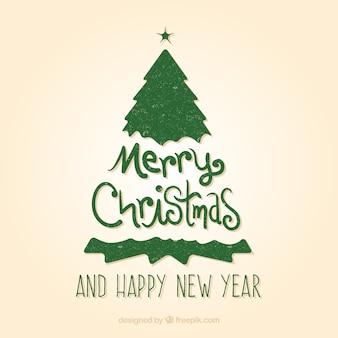 Zielona rocznika kartki świąteczne