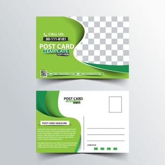 zielone szablony kart postu