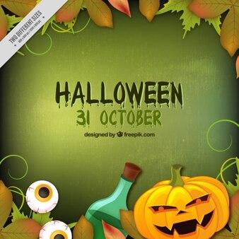 Zielone tło dla Halloween