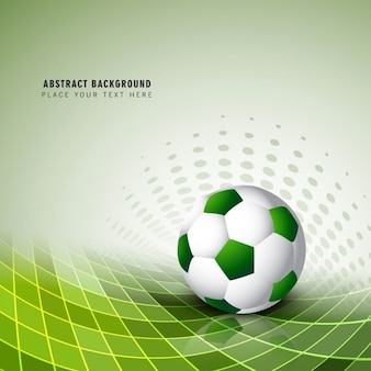 Zielone tło piłka nożna
