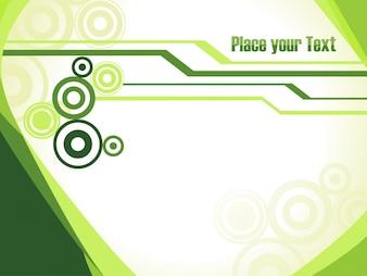 Zielony szablon tła z miejsca na tekst