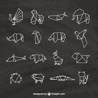 Zwierzęta origami spakować