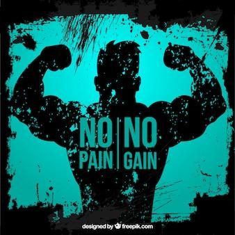 Zwrot na tle człowieka mięśni