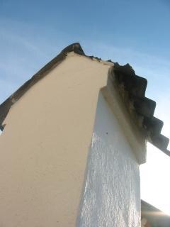 łupkowych płytek dachowych złamane