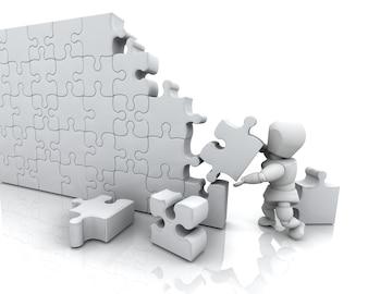 3D czynią z człowieka rozwiązywania puzzli