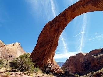 Arizona USA powell tęczowy most jezioro