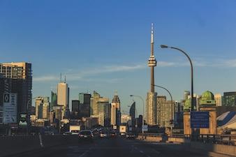 Autostrada widoku miasta Toronto