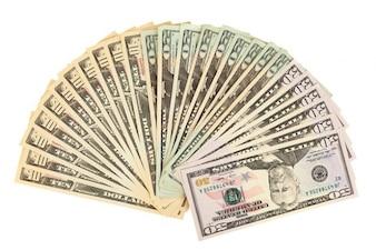 Bank banknotów pieniężnych bonów amerykańskiego biznesu