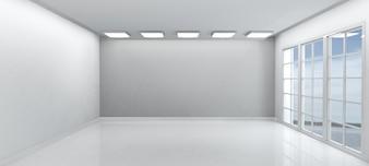 Biały pusty pokój