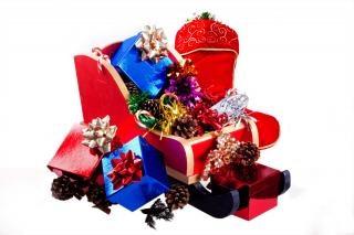 Boże Narodzenie prezenty sanki