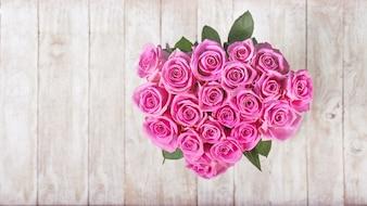 Bukiet różowych kwiatach