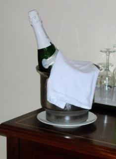 butelka szampana szczegółów