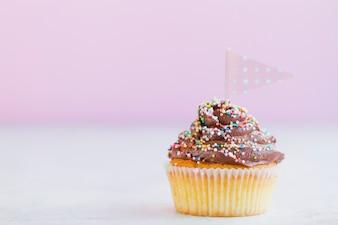 Cupcake z małą flagą