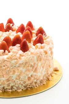 Deser z ciasta wanilii z truskawek na górze