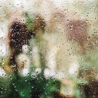 Deszcz na oknie