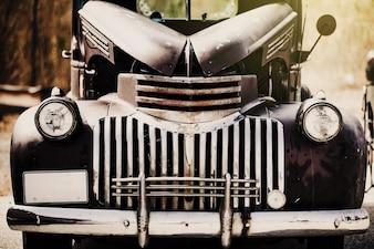 Front zabytkowej samochodzie