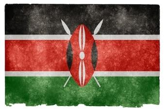 Kenia grunge flag