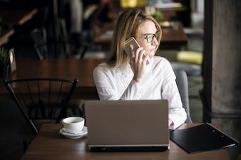 Kobieta biznesu pracy