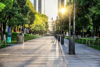 Krętą drogą przez Park Miejski