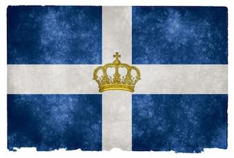 Królestwa Grecji flaga grunge