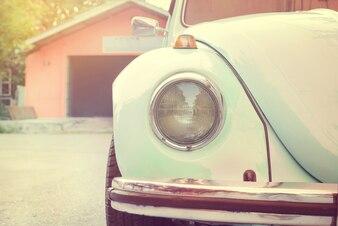 Lampa reflektorów starych antyków samochodu - pojazdy vintage klasyczny styl. vintage pastelowy styl