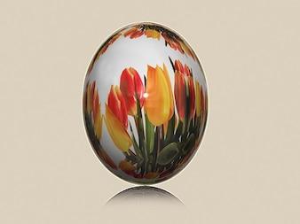 malowane tulipany polowanie pisanka