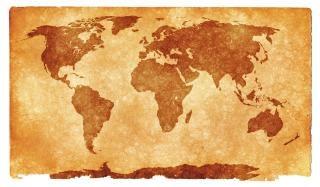 Mapa świata grunge