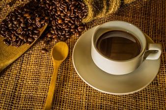 Martwa natura z kawą