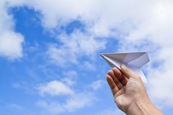 Marzę samolot origami wyobraźni sztukę