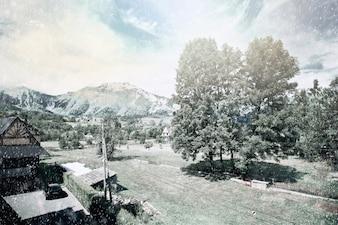 Natura Zimowy krajobraz.