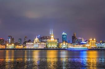 Nocny widok na miasto