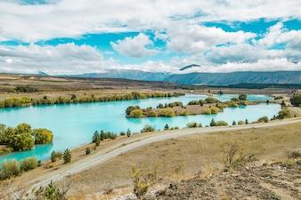Nowa Zelandia. Jezioro Dunstan