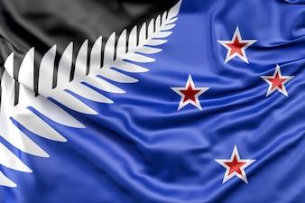 Nowo proponowane Srebrna flaga Fern z Nowej Zelandii