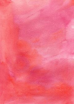 Pędzel atramentu czerwony Akwarela teksturowanej tle papieru Bożego Narodzenia