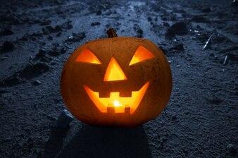 Podświetlany dyni na Halloween