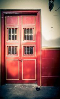 Puerta jardin Antioquia czerwony