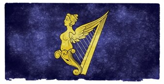 Royal Standard of Ireland grunge flaga