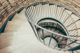 Schody Bretania wzór wnętrza spirali