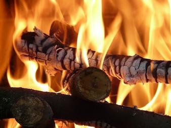 Spalić embers droga piec płomień ciepła poświata piekło