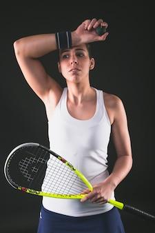 Squash player suszenie pot z opaski