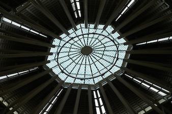 Szklany dach kryty okno architektury