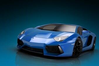 Tapeta niebieski samochód sportowy