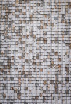 Tekstury starych dachówek.