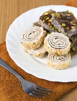 Turecki rozkoszy słodki smak na płycie