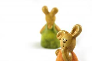 Wielkanoc królików - jedna bliska
