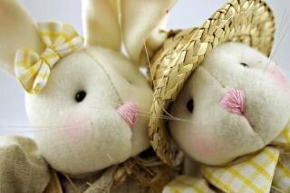 Wielkanoc królików zbliżenie
