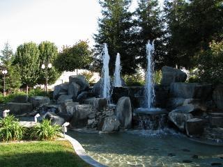Wodospad i fontanna